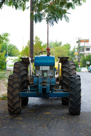 The old tractor  photo