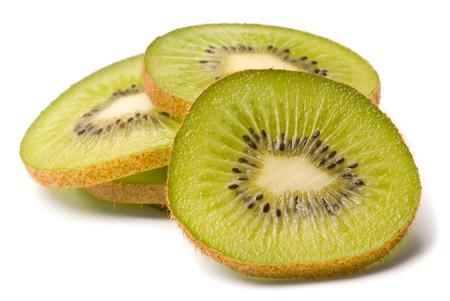 Kiwi on a white background photo