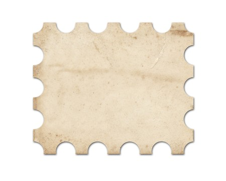 Blank vintage post stamp. Stock Photo - 7672570