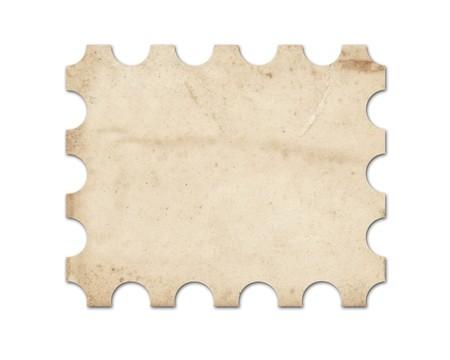 Blank vintage post stamp. Stock Photo - 7672570