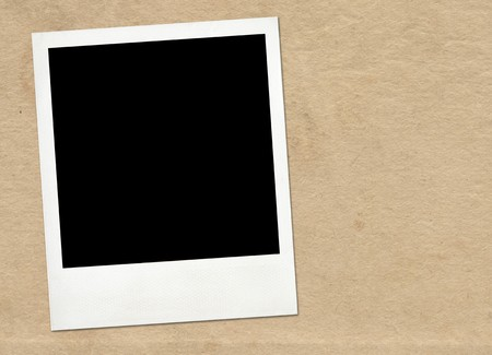 Instant frame on old paper background Stock Photo - 7672695