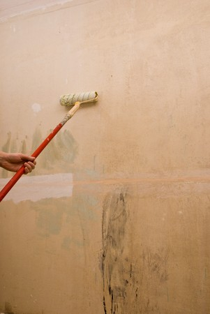 padding: Padding walls. House repair. Stock Photo