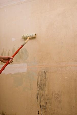 padding: Padding walls. House repair. Stock Photo