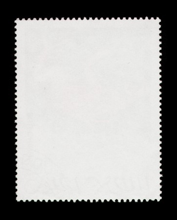 Blank post stamp scanned with high resolution