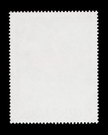 estampa: Sello de correos en blanco digitalizada con alta resoluci�n