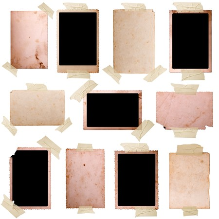 Vintage photo frames set 7, big collection Stock Photo
