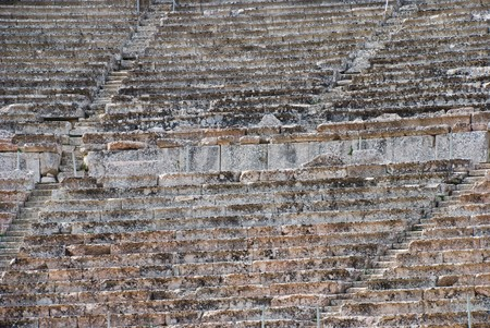 Closeup view of the Greek ancient theatre photo