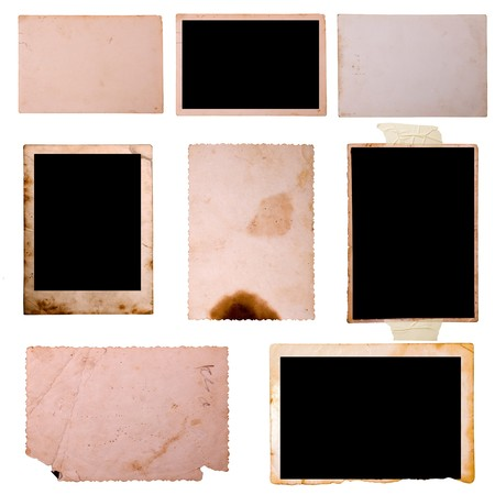 Vintage photo frames set 8, big collection Stock Photo