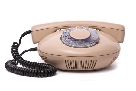 Old phone isolated on white background Stock Photo - 8353282