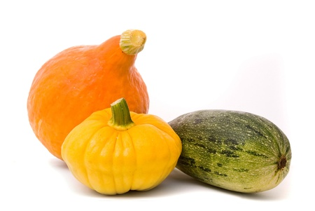 Marrows on a white studio background Stock Photo - 8696599