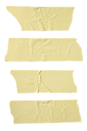 masking: Strips of masking tape isolated on white background.