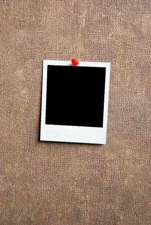 Blank photo frame on a wall photo