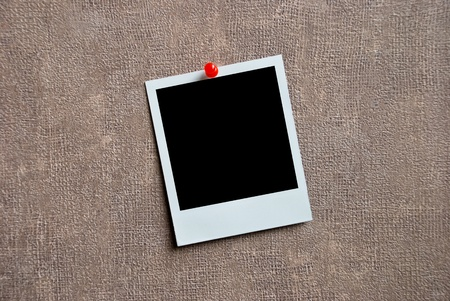 Blank photo frame on a wall Stock Photo - 9466700