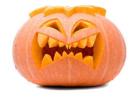 scary pumpkin: Evil Halloween pumpkin
