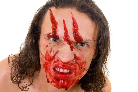 maniac: Cannibal maniac with blood on face