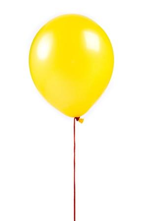 yellow ribbon: Yellow balloon on white background