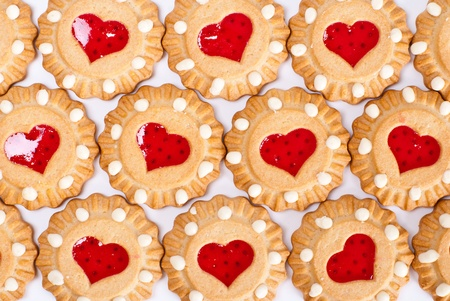 Heart cookies background photo