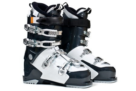 Modern professional ski boots isolated on white background Stock Photo - 13883389
