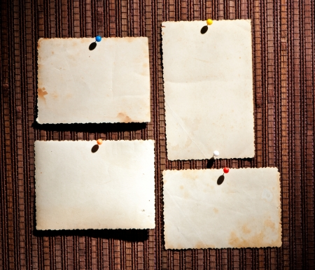 Vintage photographic blank picture frame on old texture photo