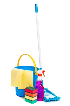 Mop and bucket. Isolated on white background Stock Photo - 13883320