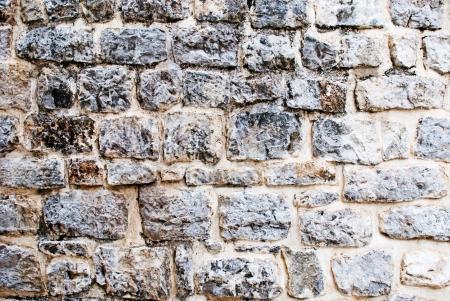 Vintage stone wall background photo