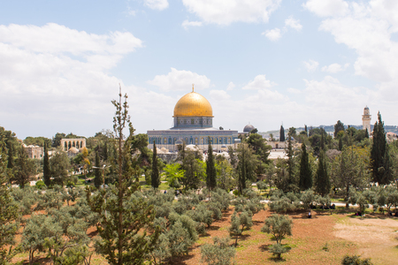 Al-Aqsa Mosque is the third holiest site in Islam located on the Temple Mount in the Old City of Jerusalem, Israel. Editorial