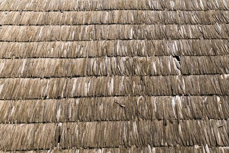 A traditional roof of an old village house in Maramures, Romania.