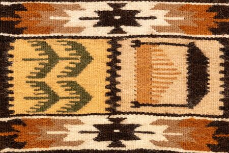 Fragment of Romanian traditional wool carpet design pattern.