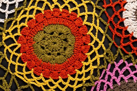 Fragment of a traditional crochet design pattern.