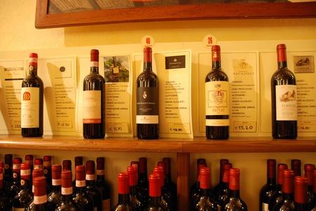Italian Wines at Wine Museum in Greve (Chanti) Editorial