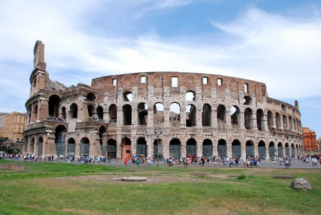 Panaromic view of the great Colosseum
