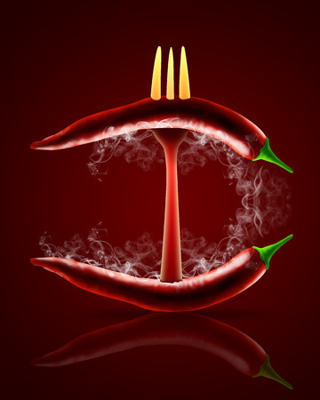 red hot chili pepper background