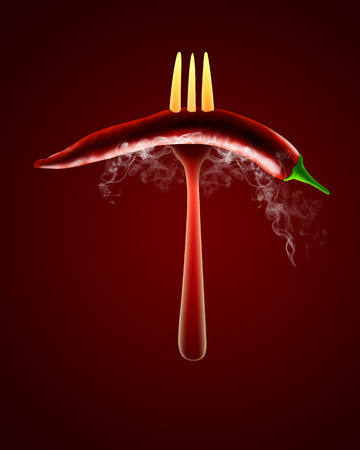 cheff: red hot chili pepper background