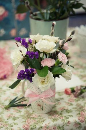 Bouquets of flower arrangements Stock Photo