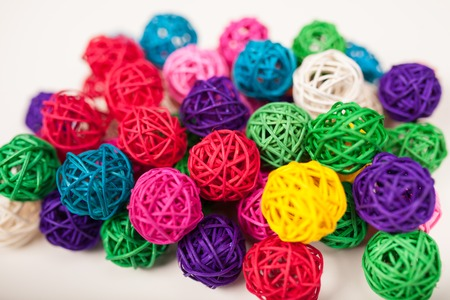 Colored wicker balls