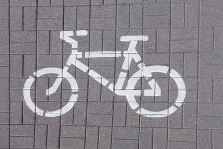 Bicycle lane sign Banque d'images - 103822116