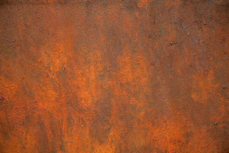 The texture of rusty metal is brown and orange.
