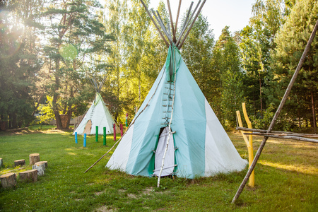 Dwelling tipi  in the forest