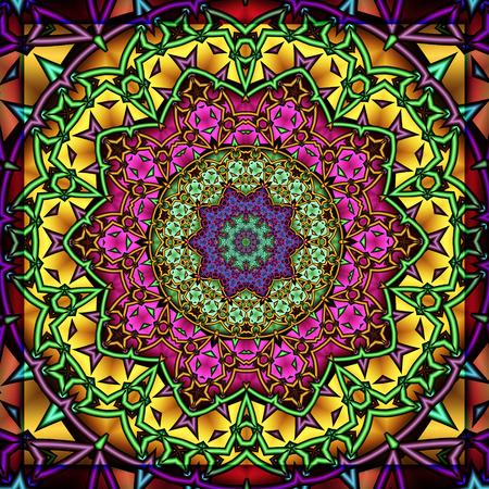 reloj de sol: Caleidoscopio colorido