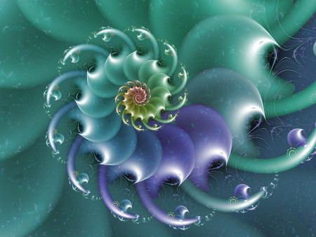 aquamarine abstract wave fractal