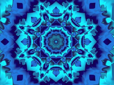 caleidoscopio azul