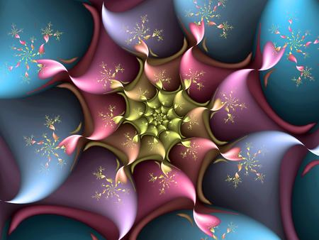 spiralling: spiralling fractal hearts