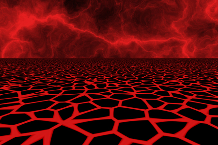 computer generated lava field Stock Photo