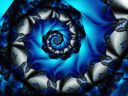 fractals: Blue spiral fractal