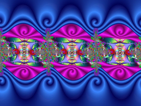 fractals: Colourful abstract design Stock Photo