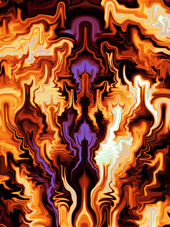 abstract fire: fiery fractal