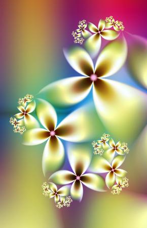 soft pastel flowers fractal