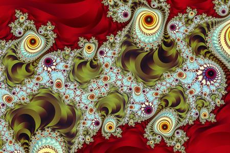 ornate fractal pattern Stock Photo