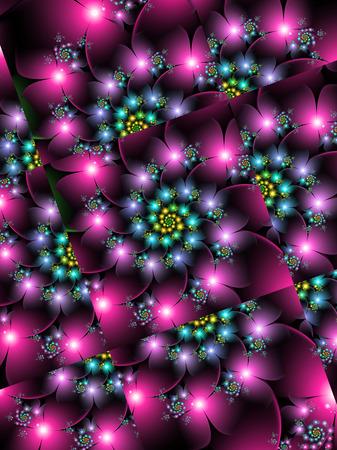spinning flower grids