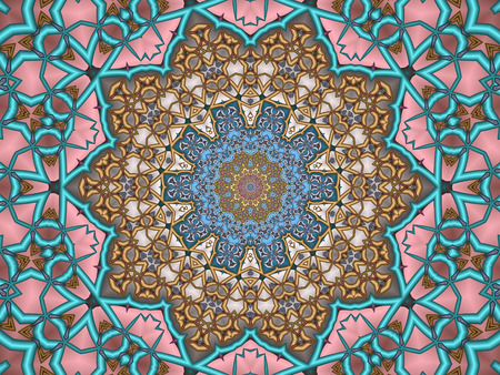 mandala: sun mandala Stock Photo